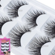 Ultra Long Soft 5 Pairs Makeup False Eye Lashes Natural Beauty Eyelashes Soft
