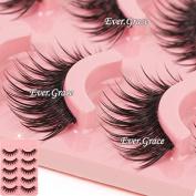 Makeup 5 Pairs Natural Long Fake Eye Lashes Handmade Thick False Eyelashes Black Acrylic Style