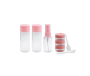 1 Set of 8Pcs Empty Portable Plastic Travelling Makeup Cosmetic Toiletries Liquid Eyeshadow Sample Storage Bottles Containers Jar Pot Case with a Plastic Zipper Bag