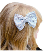 Transer® Children Girls Sequin Barrettes Big Bow Hair Clip Fashion Baby Hair Accessories Hairpin Party Gift