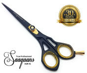 Saaqaans SQR-01 Professional Haircut Barber Scissor - Hairdressing Razor Shears 15cm for Salon Hairdresser & Home Use for Stylish Hair Cutting with a Black Pouch