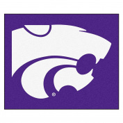 """Fanmats Team Support Outdoor Sports Carpet Decorative Accessories Logo Printed Kansas State Tailgater Rug 60""""72"""""""
