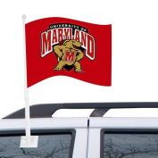 NCAA Maryland Terrapins Red Car Flag