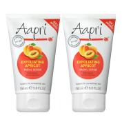2 x Aapri Exfoliating Apricot Face Facial Scrub Cream 150ml New Improved Formula