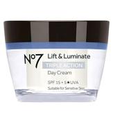 No7 Lift & Luminate Triple Action Day Cream SPF 15 50ml