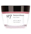 Boots No7 Restore & Renew Day Cream With SPF 15 +5* UVA 50ml FOR MATURE SKIN