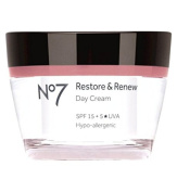 Boots No7 Restore & Renew Day Cream With SPF 15 +5* UVA 50ml FOR MATURE SKIN