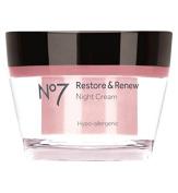 Boots No7 Restore & Renew NIGHT Cream 50ml FOR MATURE SKIN