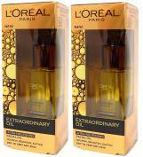 2x L'OREAL NUTRI GOLD EXTRAORDINARY NOURISHING FACE OIL 30ml