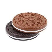 2 Pcs Ladies Mini Girl Prota Bag Chocolate Cookie Compact Mirror Compact Mirror with Comb PCPA00081