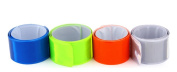 4 Pcs Multicolor Safety Reflective Slap On Wristbands Ankle Bands Bracelets Strap Belt For Cycling Bicycle Running Walking