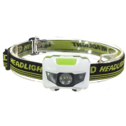 HuntGold White R3 2LED Mini Headlight Headlamp Flashlight 4 Mode Super Bright Torch Light
