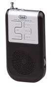 Trevi RS733 Compact Portable FM Radio with Earphones and Mini LED Torch - Black