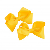 GIZZY® Girls Two Piece Yellow Bows Hair Clip Set.