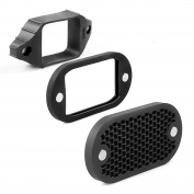 Selens MN-BK 2 in 1 Universal Honeycomb Grid Set with 7 Colour Gels for Camera Flash/Speedlight