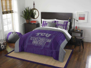 NCAA TCU Horned Frogs Modern Take Two Sham Set, Purple, Full/Queen Size