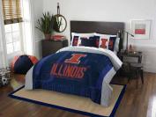 NCAA Illinois Illini Modern Take Two Sham Set, Orange, Full/Queen Size