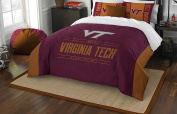 NCAA Virginia Tech Hokies Modern Take Two Sham Set, Chicago Maroon, Full/Queen Size