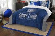 NCAA St. Louis University Billikens Modern Take Two Sham Set, Blue, Full/Queen Size