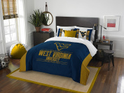 NCAA West Virginia Mountaineers Modern Take Two Sham Set, Blue, Full/Queen Size