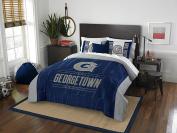 NCAA Georgetown Hoyas Modern Take Two Sham Set, Blue, Full/Queen Size