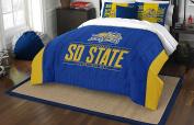 NCAA South Dakota State Jackrabbits Modern Take Two Sham Set, Blue, Full/Queen Size