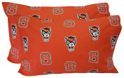 College Covers North Carolina State Wolfpack Pillowcase Pair - Solid