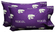 College Covers Kansas State Wildcats Pair of Solid Pillowcase, Standard