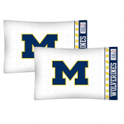 NCAA Michigan Wolverines Football Set of Two Pillowcases