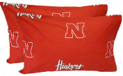 College Covers Nebraska Cornhuskers Pillowcase Pair - King - Solid