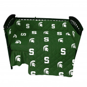 College Covers Michigan State Spartans Baby Crib Fitted Pair of Solid Sheet