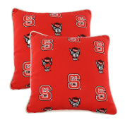 College Covers NCSODPPR North Carolina State Wolfpack Outdoor Decorative Pillow Pair, 41cm x 41cm , Red