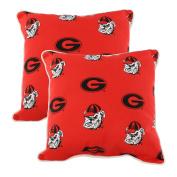 College Covers GEOODPPR Georgia Bulldogs Outdoor Decorative Pillow Pair, 41cm x 41cm , Red