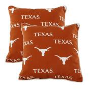 College Covers TEXODPPR Texas Longhorns Outdoor Decorative Pillow Pair, 41cm x 41cm , Orange