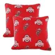 College Covers OHIODPPR Ohio State Buckeyes Outdoor Decorative Pillow Pair, 41cm x 41cm , Red