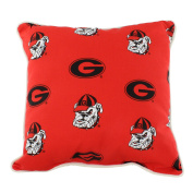 College Covers GEOODP Georgia Bulldogs Outdoor Decorative Pillow, 41cm x 41cm , Red