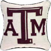MWW Manual Collegiate Tapestry Throw Pillow, 43cm , Texas A and M