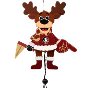 Florida State Seminoles Official NCAA Holiday Christmas Ornament Cheering Reindeer by Forever Collectibles 498421