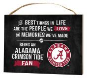 KH Sports Fan 1000101104 10cm x 14cm Alabama Crimson Tide Best Things Small Collage Plaque