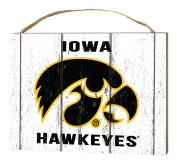 KH Sports Fan 1000102271 10cm x 14cm Iowa Hawkeyes Weathered Logo Small Collage Plaque
