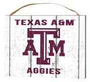 KH Sports Fan 1000102469 10cm x 14cm Texas A & M Aggies Weathered Logo Small Collage Plaque