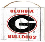 KH Sports Fan 1000102237 10cm x 14cm Georgia Bulldogs Weathered Logo Small Collage Plaque