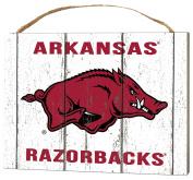 KH Sports Fan 1000102112 10cm x 14cm Arkansas Razorbacks Weathered Logo Small Collage Plaque