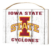 KH Sports Fan 1000102272 10cm x 14cm Iowa State Cyclones Weathered Logo Small Collage Plaque