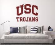USC Trojans Wall Decal Home Decor Art NCAA Team Sticker