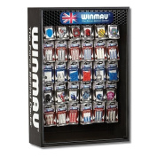 Winmau Case Wall-Mounted Cabinet Lockable with Plexiglas with 30 Fix Installed Hook for Accessories