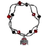 NCAA Ohio State Buckeyes Crystal Bead Bracelet