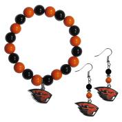 NCAA Oregon State Beavers Fan Bead Earrings & Bracelet Set