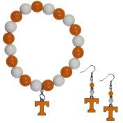 NCAA Tennessee Volunteers Fan Bead Earrings & Bracelet Set