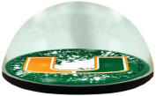 NCAA Miami University Hurricanes logo in 5.1cm crystal magnetised paperweight with Coloured Window Gift Box